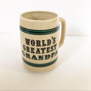 Vintage Worlds Greatest Grandpa Large Coffee Mug